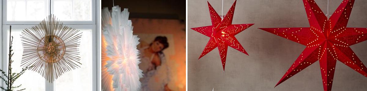 Hängande Julstjärnor