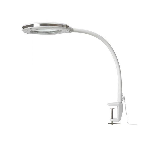 Varnhem Vit 3-Dioptri Led/Dimmer Förstoringslampa Golv