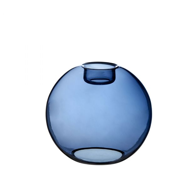 Gloria blått glas 16cm