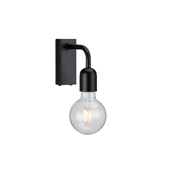 Regal Svart IP21 Vägglampa