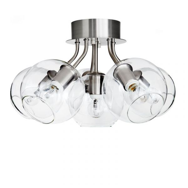 Tage Silver/Klar 50Cm Plafond