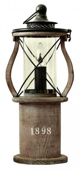 1898 Trä Bordslampa