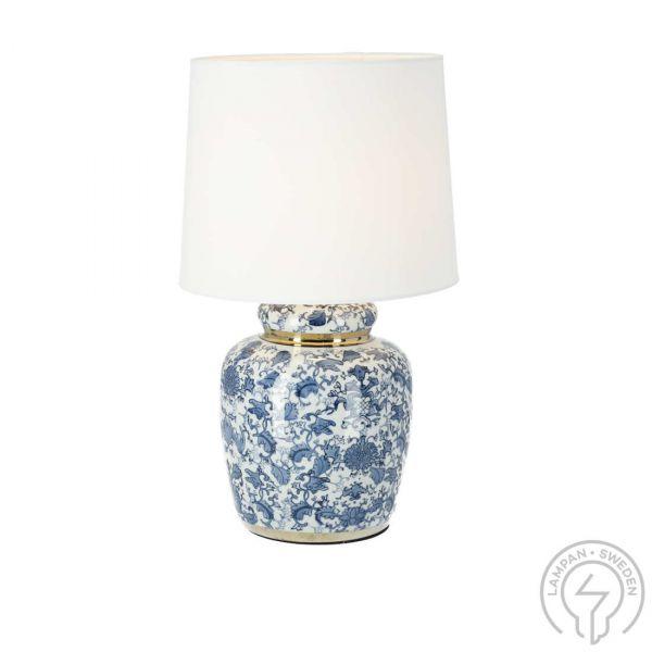 Klassisk Blå 44cm Bordslampa