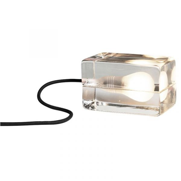 Block Lamp Klar/Svart