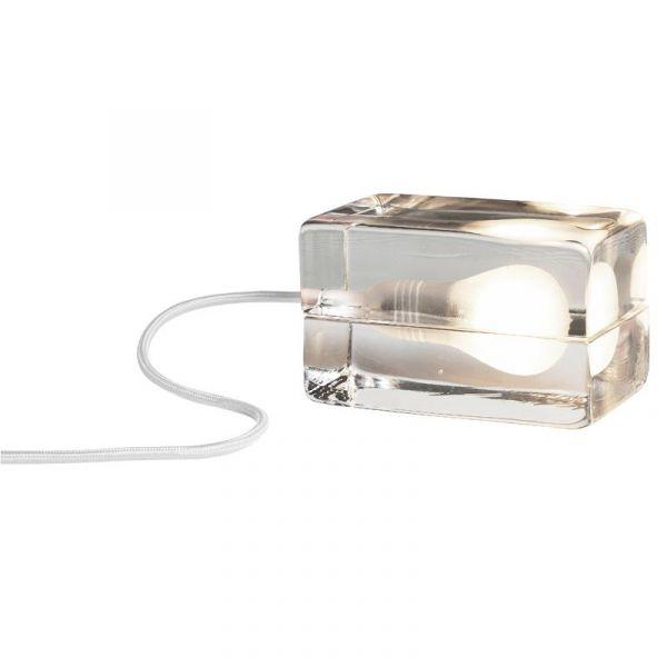 Block Lamp Klar/Vit