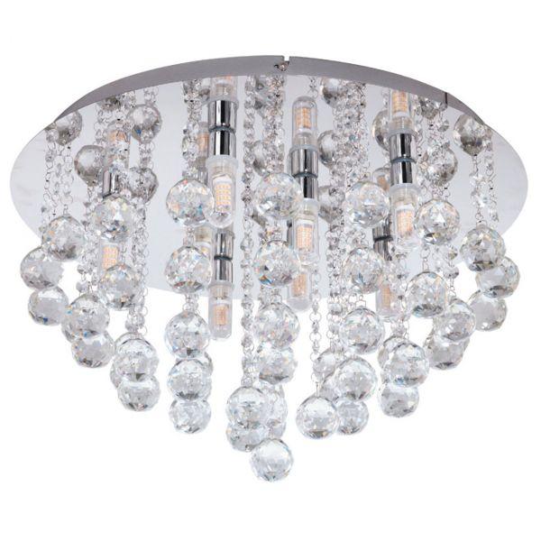Almonte Plafond 50cm Krom/Kristall
