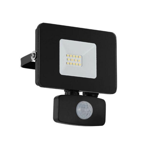 Faedo 3 LED Strålkastare 10W Svart Sensor IP44