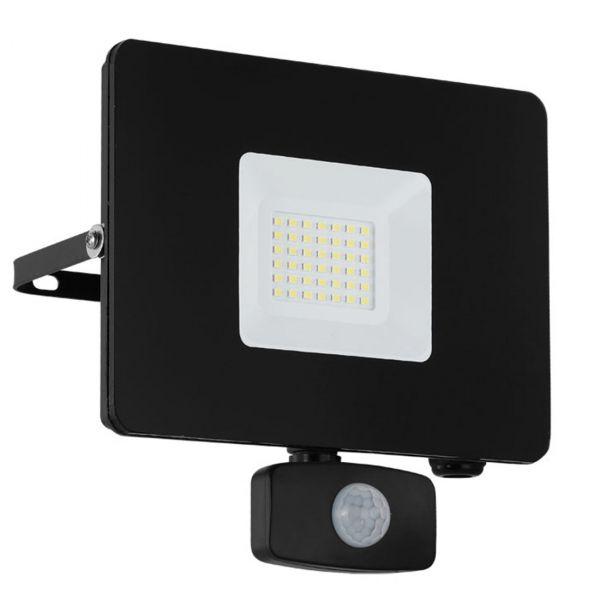 Faedo 3 LED Strålkastare 30W Svart Sensor IP44