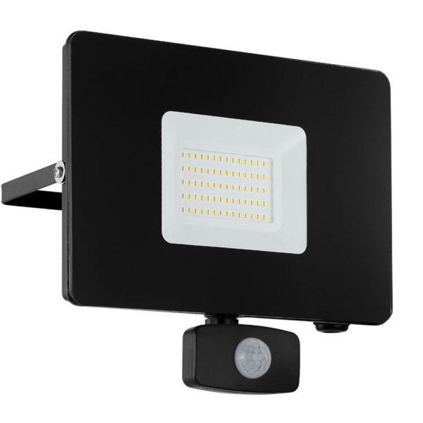 Faedo 3 LED Strålkastare 50W Svart Sensor IP44