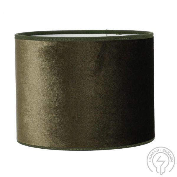 Roma Sammet Mossgrön 20cm Cylinder Lampskärm
