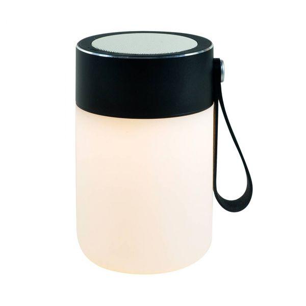 Sound Jar Svart Bordslampa med Bluetooth Högtalare