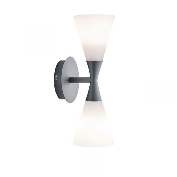 Harlekin Duo Grafit/Vit Vägglampa