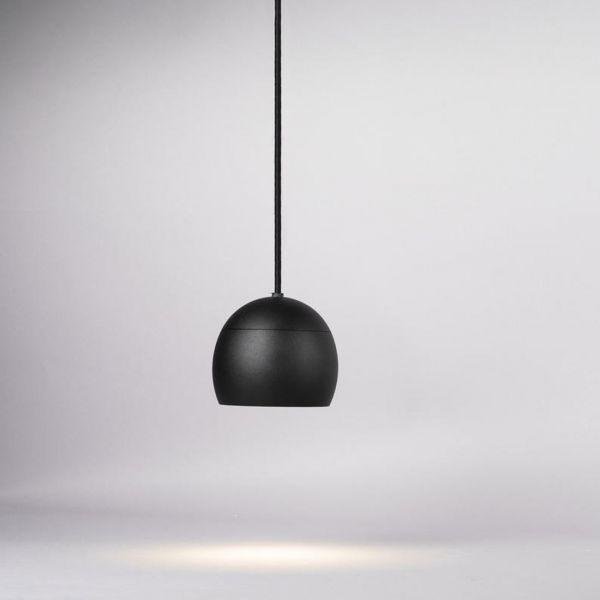 Globe Pendel 12cm Svart 3000K