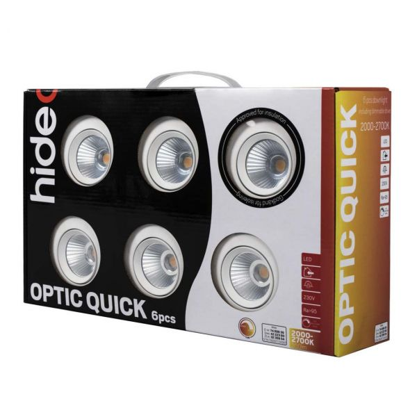 Optic Quick ISO Spotlight 6W 6-pack Vit
