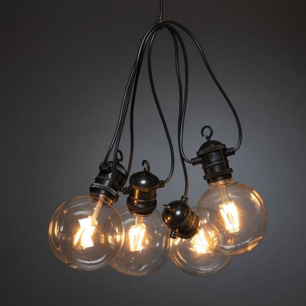 Ljusslinga 4,5m 10 LED Amber 100mm