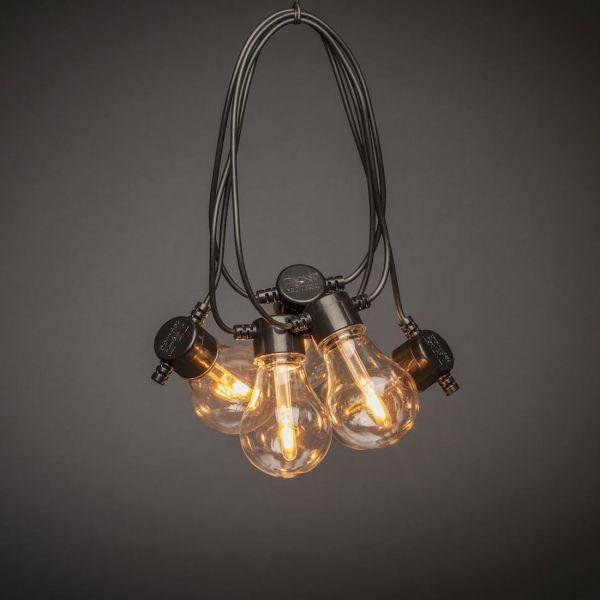 Ljusslinga 4,5 meter 10 LED Amber Normal Svart