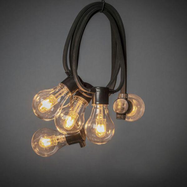 Ljusslinga 4,5 meter M-formad 10 LED Amber Normal IP44 Svart
