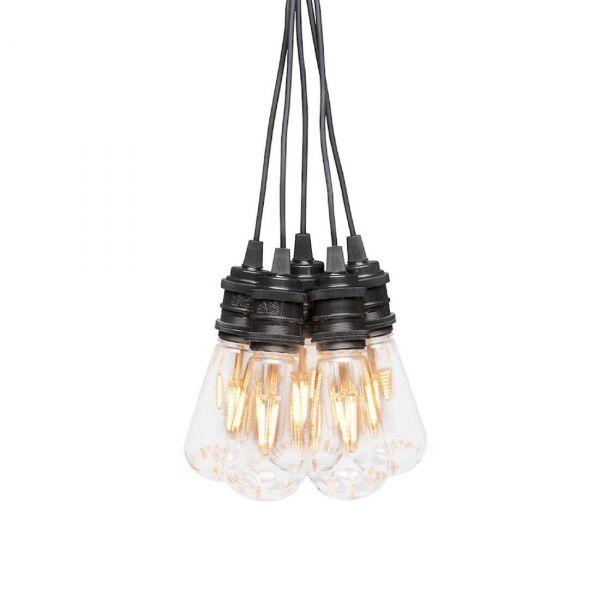 Ljusslinga10m 10xLed Amber Utbytbar LED IP44