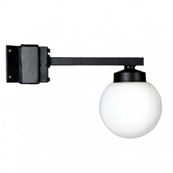 Funkislampa Hörn Svart/Opal