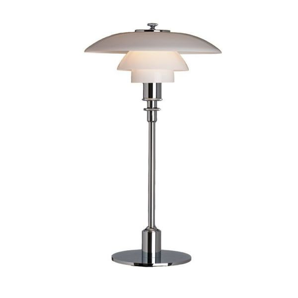 Ph 2/1 Krom/Glas Bordslampa