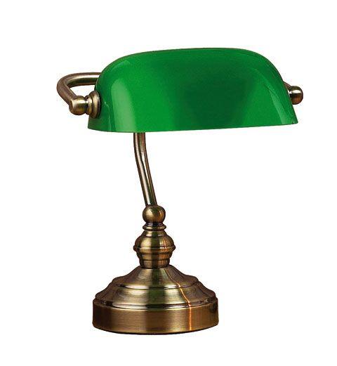 Bankers Grön 25cm Bordslampa