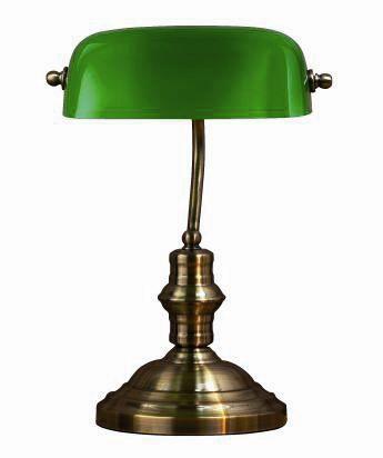 Bankers Grön 42Cm Bordlampa