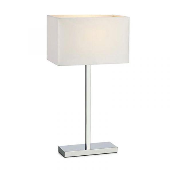 Savoy Krom/Vit Usb Bordslampa
