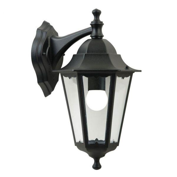 Cardiff Vägglampa Ner Svart IP44