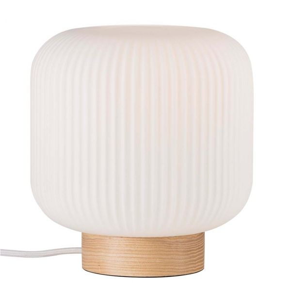 Milford Ask/Opal Bordslampa