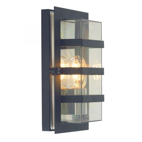 Boden Svart/Klar Ip54 Vägglampa