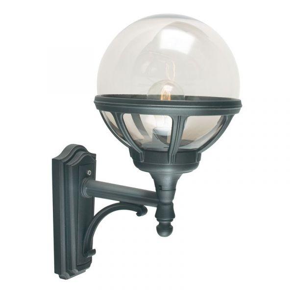 Bologna Svart/Klar Ip54 Vägglampa