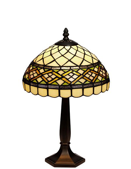 Retro Tiffany 25cm Bordslampa