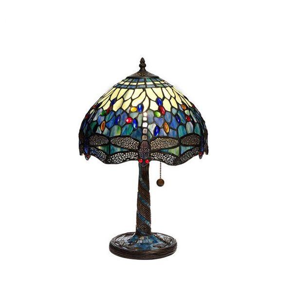 Trollslända Tiffany Safirblå Bordslampa