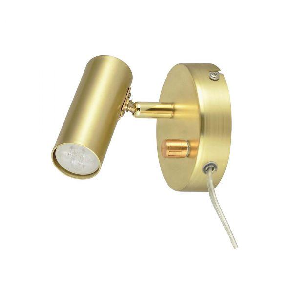 Mini Borstad Mässing Led/Dimmer Vägglampa