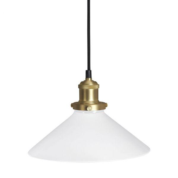 August Fönsterlampa 25cm Glas/Metall Mässing/Opal