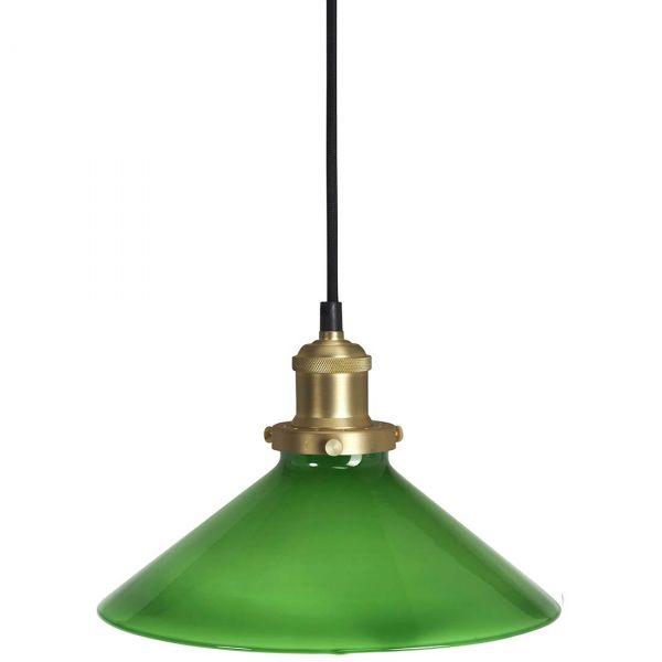 August Grön 25cm Fönsterlampa