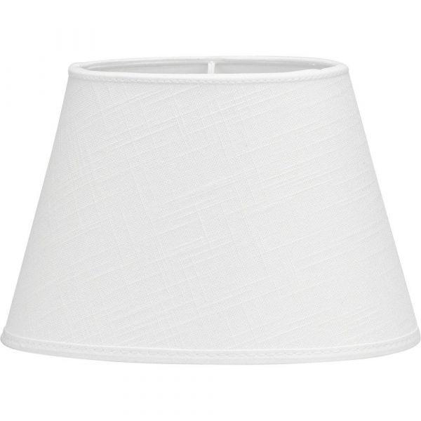 Oval Lin Vit 25cm Lampskärm