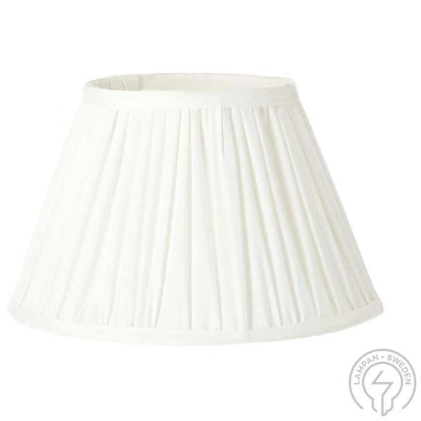 Stella Offwhite 25cm Veckad Lampskärm