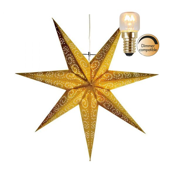 Antique Guld 60Cm Julstjärna Inkl Ljuskälla