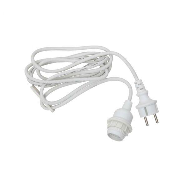 Kabel Vit E27 2,5m IP44 Utomhusupphäng