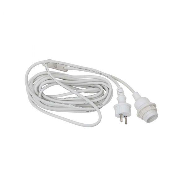 Kabel Vit E27 5m IP44 Utomhusupphäng