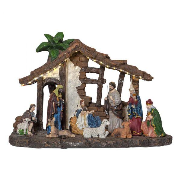 Panorama Nativity 25cm Flerfärgad