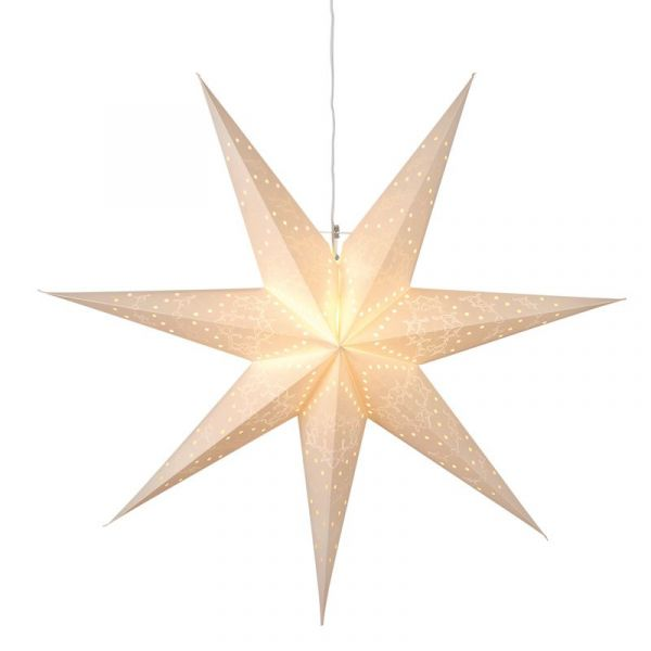Sensy Vit Pappstjärna 100Cm