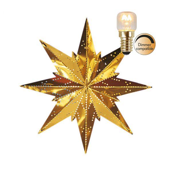 Stjärna Mini Mässing 25cm Inkl Ljuskälla