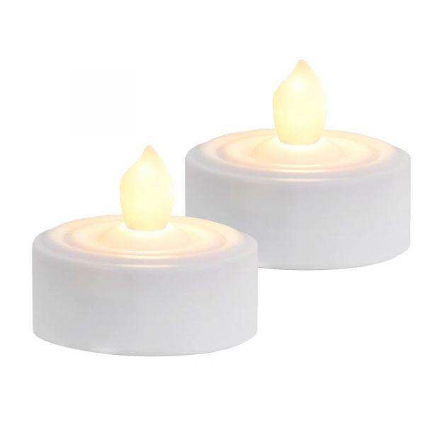 Värmeljus Led 2-Pack Vitt Ljus