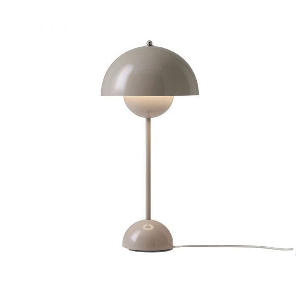 Flowerpot VP3 Grå Beige 50cm Bordslampa
