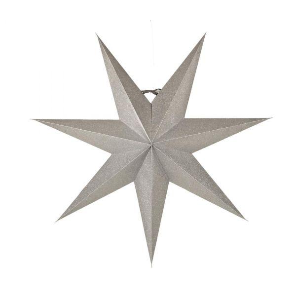 Tilly Julstjärna Silver 60cm