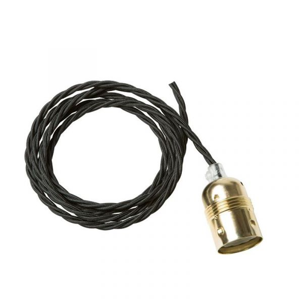 Twisted Cable Svart/Mässing Upphäng