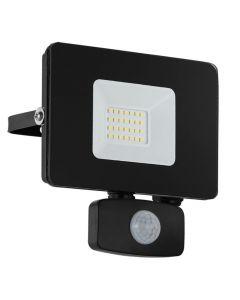 Faedo 3 LED Strålkastare 20W Svart Sensor IP44 från Eglo