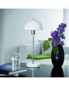 Vienda Vit/Metall Bordslampa från Herstal